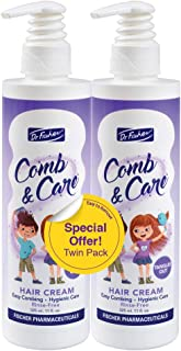 Hair Detangler by Dr. Fischer   Cream Leave-In for Children   Rich in Rosemary Oil and Vitamin B5  For an Easy-To-Comb Hair   22 fl.oz. - Twin Pack 