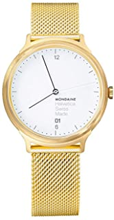 Mondaine - Helvetica Light, Reloj de Acero Inoxidable para Hombre y Mujer, MH1.L2211.SM, 38 MM
