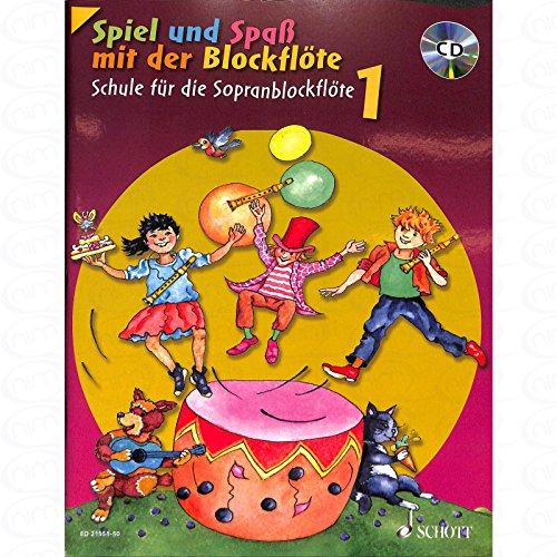 Spiel und Spass mit der Blockfloete 1 - arrangiert für Sopranblockflöte - mit CD [Noten/Sheetmusic] Komponist : ENGEL GERHARD