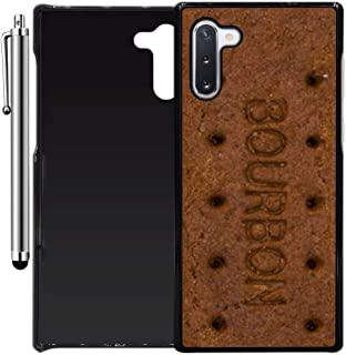 Custom Case Compatible with Galaxy Note 10 (Bourbon Biscuit Bar) Plastic Black Cover Ultra Slim | Lightweight | Includes Stylus Pen by Innosub