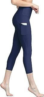 Women's Tummy Compression Slimming Capri Leggins with Pocket Active Wear