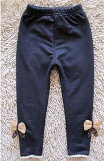 MAZS Pantalones Vaqueros de Invierno para niñas Leggings cálidos más Pantalones de Cintura elástica para niños Gruesos