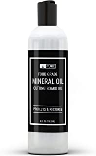 Pure Mineral Oil, Food Safe , For Cutting Boards, Butcher Blocks, Counter tops, Wood Utensils (4 oz)