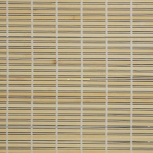 JalousieCrew Holzrollo Breite 90 cm Länge 220 cm Farbe Natur oder braun Seitenzug Fenster Tür Rollos (Natur)
