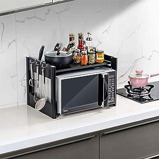 Rangement Cuisine Organisateur étagère Fournitures de cuisine en acier inoxydable étagère de rangement Ustensiles Porte 2-...