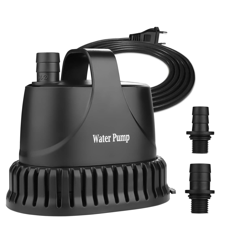 NO.17 bomba de agua sumergible 20W, 1200 L / H Bomba de acuario Bomba de estanque ultra silenciosa bajo el agua para estanque, fuente de jardín acuario: Amazon.es: Productos para mascotas