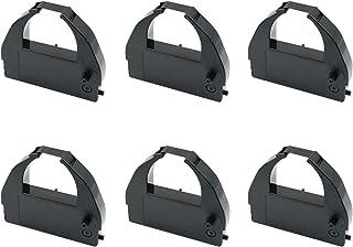 PrinterField アマノ AMANO 汎用 インクリボン タイムレコーダー用 DX7000 Series/MR7000 Series(MR7500/MR7600)/MJR7000/MJR8000/MJR8100 【黒 6個】インクリボン...