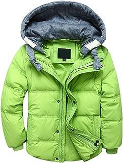LOKTARC Boys Girls Down Puffer Jacket Vest Padded Winter Coat with Hood Removable