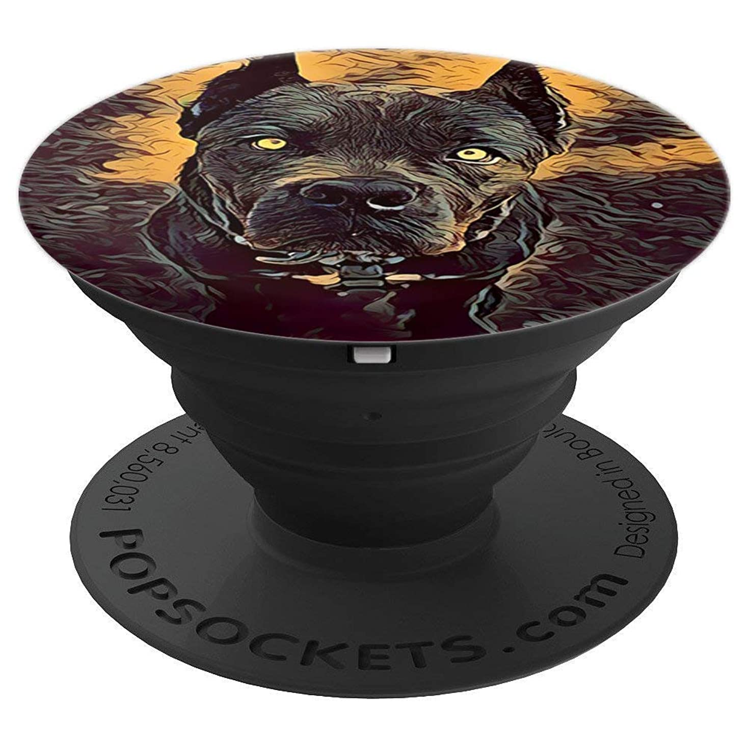 Cane Corso Italian Mastiff Head Dog Portrait - PopSockets Grip and Stand for Phones and Tablets