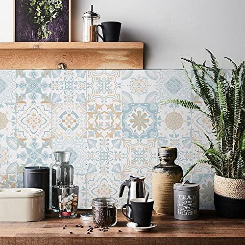 Vinilos Pared Cocina Marruecos Celeste Vinilo Adhesivo Cenefas Adhesivas Baño Cocina Azulejos...