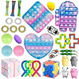 YUZHANGTONG Sensory Fidget Toy Set, Stress Relief Toys for Adults Kids ADHD Anxiety Autism,Adults, Perfect for Classroom Reward with Gift Box,Anxiety Autism to Stress Relief and Anti Anxiety (32Pcs)