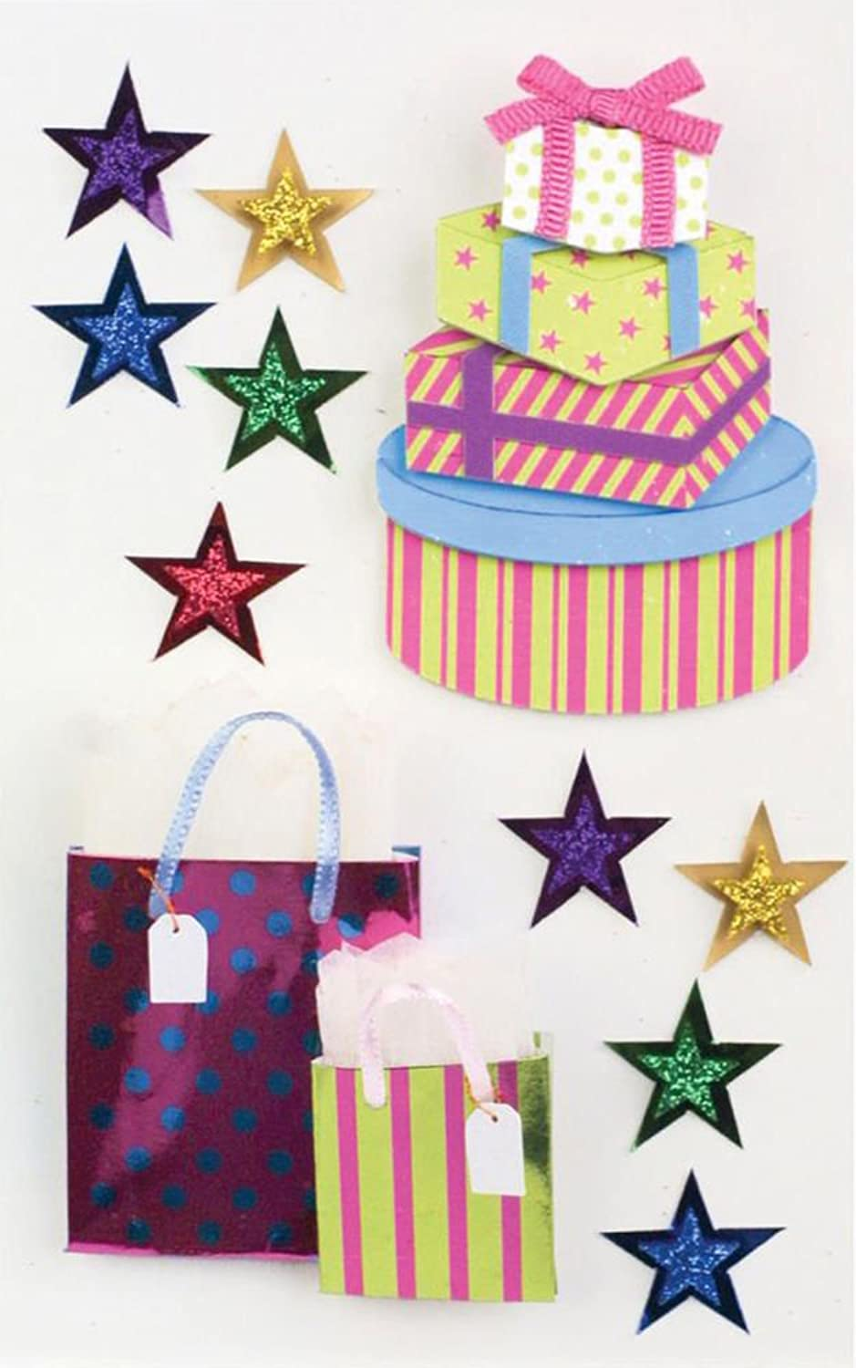 Sticker Embellishments Little B Birthday Gift Medium Stickers B00G81WNBY | | | Outlet Online Store  f748e3