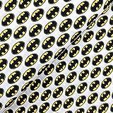 Glünz Baumwolle Batman auf weiß - Stoff - Meterware -