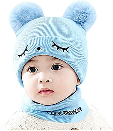 Girl/'s Crochet Striped Beanie  Girl Hat with Pom Pom  Children Hats  Kids Hat  Winter Hat   Infant Hat  Baby Girl Hat  Toddler Hat
