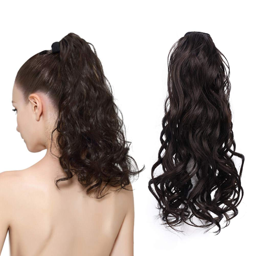 Human Hair Pony Tail Extension 100g 超特価 定番 Clip Wavy Ponytail H Body in