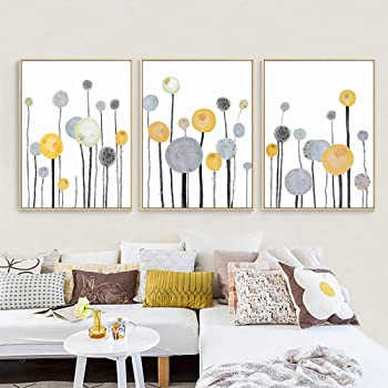 Shinering Modern Abstract Flowers Home Decoration Wall Art Canvas Painting Nordic Posters And Prints Wall Pictures For Living Room Decor No Frame Amazon Co Uk Kitchen Home
