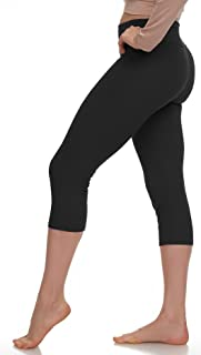 Extra Soft Capri Leggings with High Yoga Wast - Many Colors - XS to 3XL