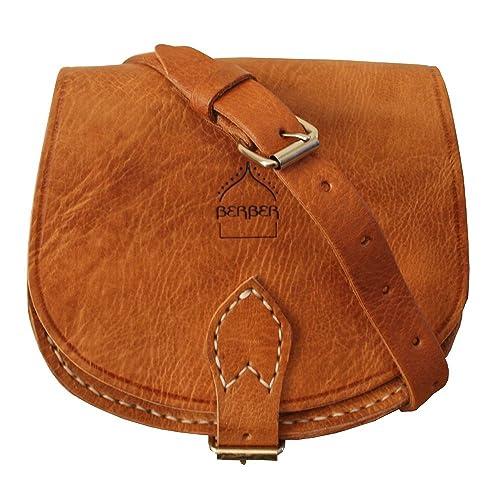 85f430dea4 Genuine Moroccan Leather Small Saddle Bag Women s Crossbody Bag