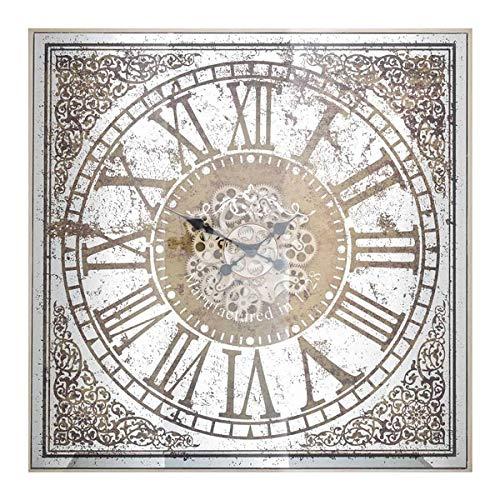 Richmond Interiors - Wanduhr, Uhr - Owen Square - Keramik, Metall, Glas - Maße (LxBxT): 82 x 82 x 10 cm