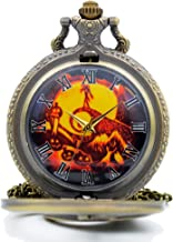KDJSTORE The Nightmare Before Christmas Sally&Jack Dial Quartz Pocket Watch Necklace Pendant Xmas Gifts