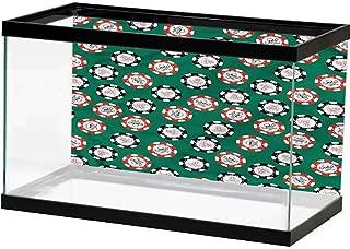 SLLART Image Decor Casino,Card Suits Pattern Gambling Paper Cling