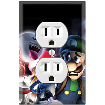 Wario Land Light Switch Cover Plate Duplex Outlet Video Game Waluigi New