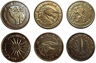 SPMI Game of Thrones Coin Set Half-Pennies of 6 Houses Replicas