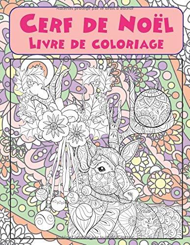 Cerf de Noël - Livre de coloriage