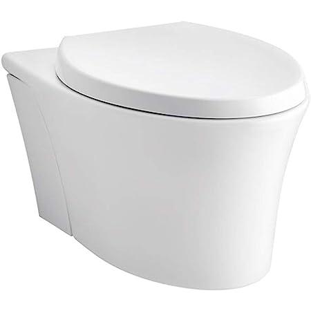 KOHLER K-6299-0 Veil Wall-Hung Elongated Toilet Bowl, White