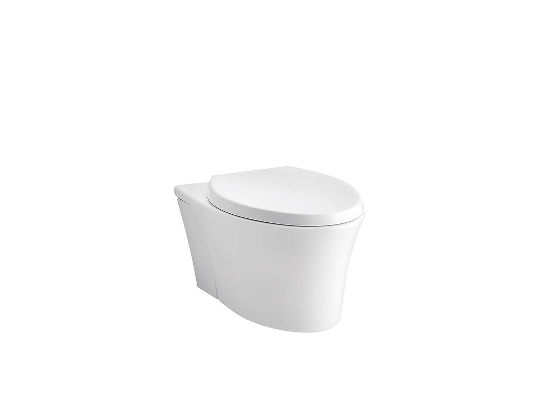 KOHLER K-6299-0 Veil Wall-Hung Elongated Toilet Bowl, White : Amazon.in:  Home Improvement