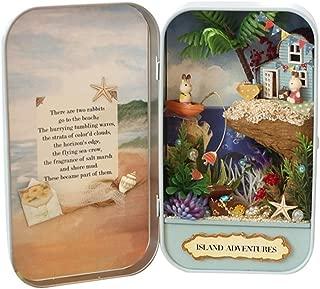 Gazelle Trading Wooden Handicraft DIY Dollhouse The Tin Box Theatre Series Miniature Project Kits (Island Adventures)