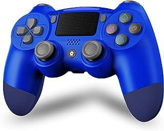 Maegoo Draadloze controller voor P4, Bluetooth Controller P4 Gamepad Joystick voor P4/Slim/Pro, P4 Game Controller met dub...