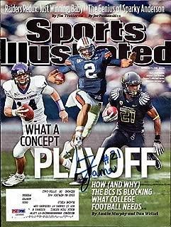 LaMichael James Signed Sports Illustrated Magazine Cover Oregon Ducks - PSA/DNA Authentication - Autographed NFL Football Memorabilia