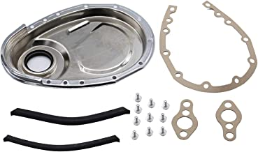 TAKPART Gasket Seal Bolts Set Timing Chain Cover Kit Compatible for SB Chevy 283 327 305 350 383 400 engines