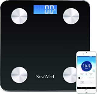 Smart Digital Bathroom Scale Personal for Weight Watchers BMI Body Composition Index Measure Visceral Fat, Water, Hydration, BMR, Muscle Mass Analyzer Bluetooth Wireless with Phone App Health Monitor