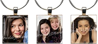 ICARLY ~ Scrabble Tile Wine Glass Charms ~ Set of 3 ~ Stemware Charms/Markers/Pendants