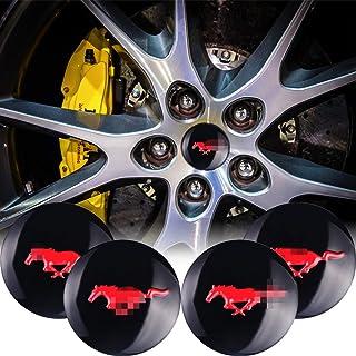 Rouge, Noir Chapeau Bonnet Sous licence Ford Mustang avec Pony Tri Bar emblème