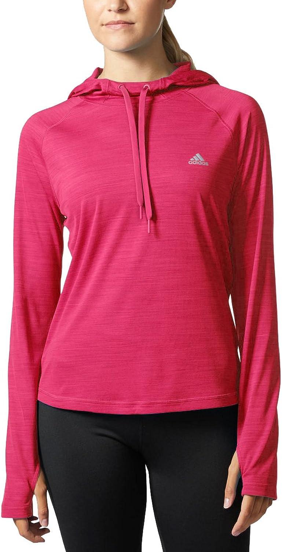 Adidas Women's Climalite Long Sleeve Performance Hoody (Energy Pink, Small)