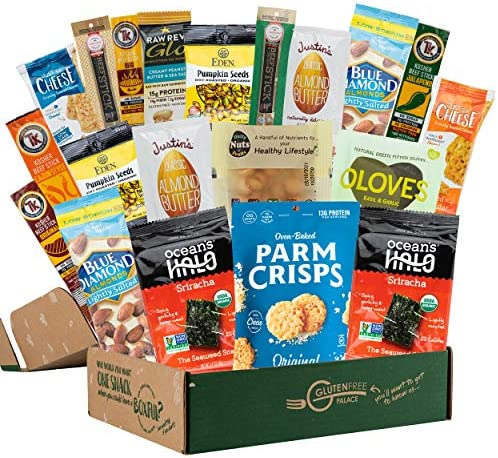 KETO SNACK BOX 20 Count Low Carb Snacks Low Sugar Gluten Free Healthy Snacks Gift Basket Holiday product image