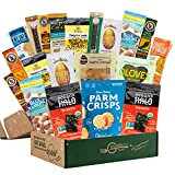 KETO SNACK BOX [20 Count] Low Carb Snacks, Low Sugar, Gluten Free Healthy Snacks Gift Basket   Holiday Gift Basket, Get Well, Quarantine   Best Keto Snacks…