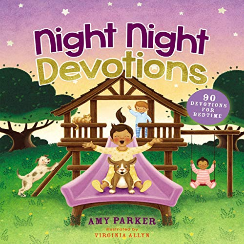 Night Night Devotions     90 Devotions for Bedtime              By:                                                                                                                                 Amy Parker,                                                                                        Virginia Allyn                           Length: 2 hrs and 8 mins     Not rated yet     Overall 0.0