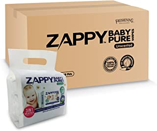 Zappy Baby Pure 30s Wipes Value Pack, 30 ct (Pack of 48)