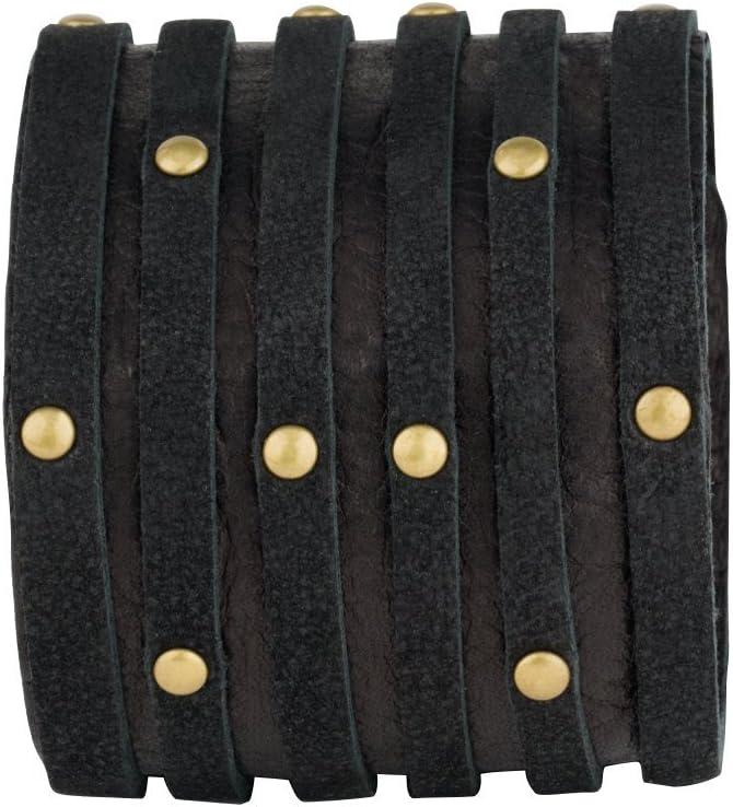 CUFF Carin Smart Shredded Leather Bracelet, Black