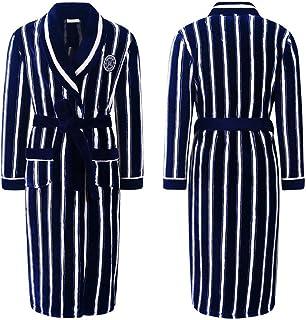 Winter Nightgown Male Coral Velvet Pajamas Men's Bathrobes Kimono Winter Plus Velvet Thickened One-Piece Long Bathrobe Hom...