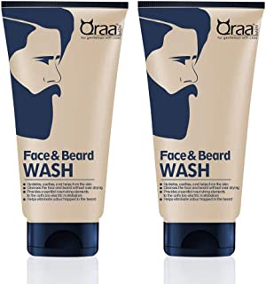 Qraa Men Face and Beard Wash - 100g (Pack Of 2)