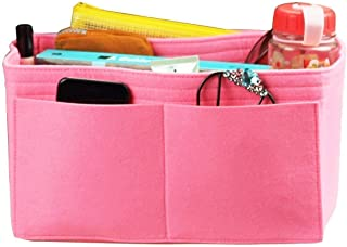 [Fits Neverfull MM/Speedy 30, Pink] Felt Organizer, Bag in Bag, Wool Purse Insert, Customized Tote Organize, Cosmetic Makeup Diaper Handbag