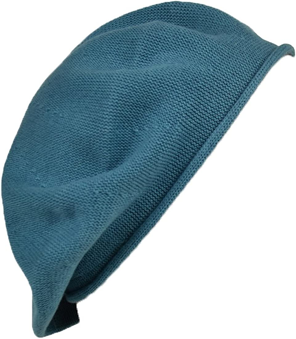 Landana Headscarves Melange Beret for Women 100% Cotton Solid