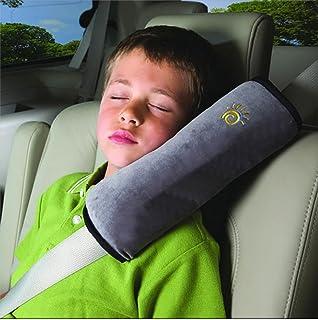 Ruirui Auto almohadilla cinturón de seguridad protege el hombro almohadilla ajuste amortiguador del vehículo del cinturón de seguridad para niños, ash