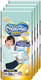 MamyPoko Extra Dry Pants, XXL, 26 Count, (Pack of 4)