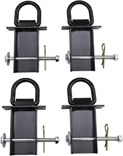 Heavy Duty Removable D-Ring Stake Pocket tie Down for Utility Trailers and flatbeds Equipped with Stake Pockets-4 Pack